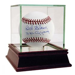 "Bob Gibson Signed Baseball Inscribed ""70 NL Cy Young"" with High Quality Display Case (Steiner COA)"