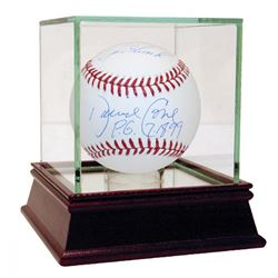 "David Cone  Joe Girardi Signed OML Baseball Inscribed ""PG 7-18-99"" with High Quality Display Case (M"