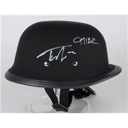 """Tommy Flanagan Signed """"Sons of Anarchy"""" Biker Helmet (Radtke COA)"""