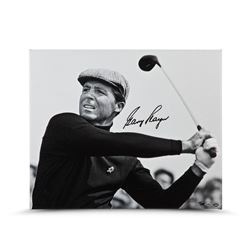 "Gary Player Signed ""Up Close  Personal"" 20x24 Photo on Canvas LE 25 (UDA COA)"