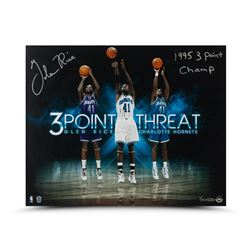 Glen Rice Signed Hornets  Three Point Threat  16x20 Photo Inscribed  1995 3 Point Champ  LE 41 (UDA