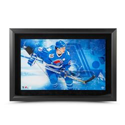 Joe Sakic Signed Nordiques 17x25 Custom Framed Acrylic Stick Blade Shadow Box Display LE 25 (UDA COA