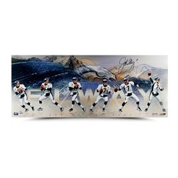 "John Elway Signed ""Art of the Pass"" 15x36 Photo Collage LE 50 (UDA COA)"