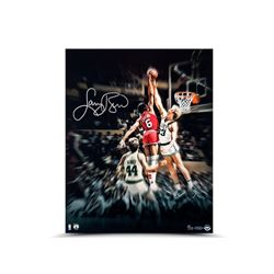 "Larry Bird Signed Celtics ""Blocking the Doctor"" 16x20 LE 33 (UDA COA)"