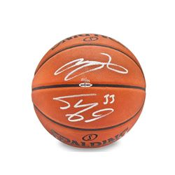 LeBron James  Shaquille O'Neal Signed LE Basketball (UDA COA)