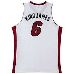 "LeBron James Signed ""King James"" Heat Jersey (UDA COA)"