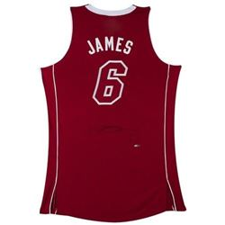 "LeBron James Signed ""Pride"" Heat Jersey (UDA COA)"