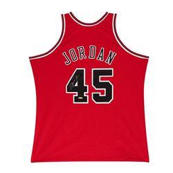 Michael Jordan Signed Bulls Mitchell  Ness Jersey (UDA COA)