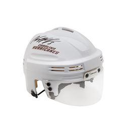 Noah Hanifin Signed Hurricanes Mini Helmet (UDA COA)