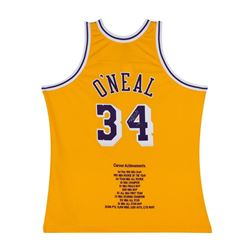 Shaquille O'Neal Signed LE Lakers Career Highlight Stat Jersey (UDA COA)