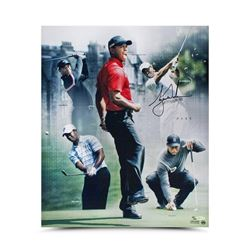 "Tiger Woods Signed ""PAR 5"" 20x24 Photo Collage LE 150 (UDA COA)"