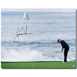 """Tiger Woods Signed """"Crashing Waves"""" LE 16x20 Photo (UDA COA)"""