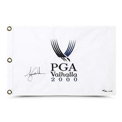 """Tiger Woods Signed LE """"2000 PGA Champ"""" Pin Flag (UDA COA)"""
