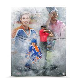 "Wayne Gretzky  Tiger Woods Signed LE ""Rarefied Air"" 16x20 Photo (UDA COA)"