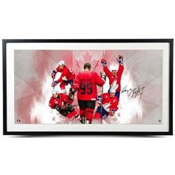 "Wayne Gretzky Signed ""Homeland"" 22x40 Custom Framed Photo (UDA COA)"