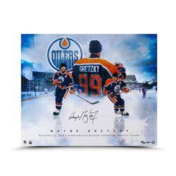 "Wayne Gretzky Signed Oilers ""One More Time"" LE 20x24 Photo (UDA COA)"