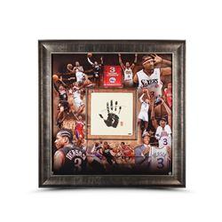 """Allen Iverson Signed 76ers """"Career"""" LE 42x42 Custom Framed Tegata Display (UDA COA)"""