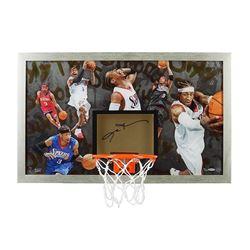 "Allen Iverson Signed 76ers ""Trendsetter"" LE 18x30 Custom Framed Backboard Display (UDA COA)"