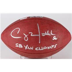 "Clay Matthews Signed Super Bowl XLV NFL Official Game Ball Inscribed ""SB XLV Champs"" (Radtke COA)"
