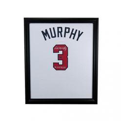 "Dale Murphy Signed Braves 23x27 Custom Framed Jersey Display Inscribed ""NL MVP 82, 83"" (Radtke COA)"