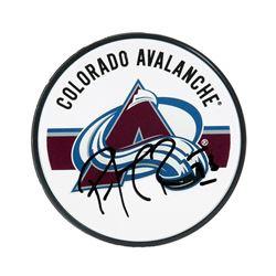 Patrick Roy Signed Avalanche Logo Hockey Puck (UDA COA)