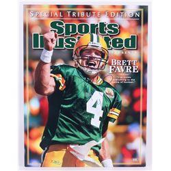 Brett Favre Signed Packers 24x31 Photo (Favre Hologram)