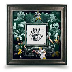 Brett Favre Signed Packers 36x36 Custom Framed Tegata Display (UDA COA)