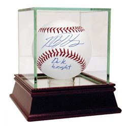 """Matt Harvey Signed Baseball Inscribed """"Dark Knight"""" (Steiner COA  MLB Hologram)"""