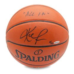 """Kevin Love Signed LE Basketball Inscribed """"All In"""" (UDA COA)"""