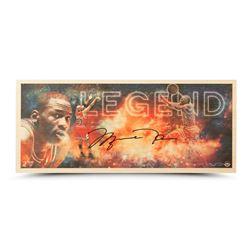 "Michael Jordan Signed Bulls ""Legend"" LE 11x26 Bamboo Print (UDA COA)"