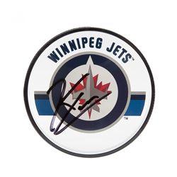 Kyle Connor Signed Jets Logo Acrylic Hockey Puck (UDA COA)