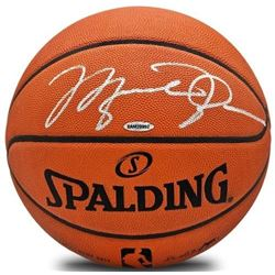 Michael Jordan Signed Authentic Spalding Basketball (UDA COA)