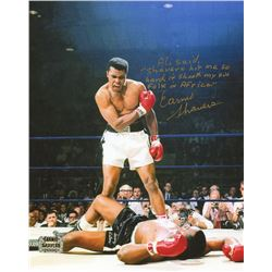 Earnie Shavers Signed 8x10 Photo vs. Muhammad Ali with Extensive Inscription Referencing Ali (Shaver