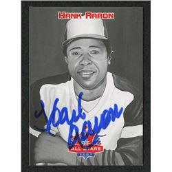 Hank Aaron Signed 2006 Kellogg's All-Star Autographs #HA (JSA COA)