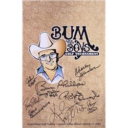 """""""Bum and the Boys Golf Tournament"""" 11x17 Poster Signed By (9) with Bum Phillips, Ken Burroughs, Robe"""