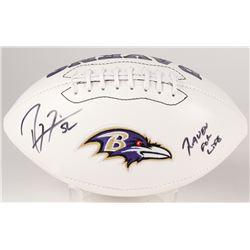 "Ray Lewis Signed Ravens Logo Football Inscribed ""Raven For Life"" (Radtke COA)"