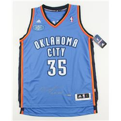 """Kevin Durant Signed LE Thunder Adidas Jersey with 2013-2014 MVP Patch Inscribed """"13-14 MVP"""" (Panini"""