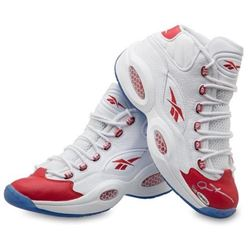 Allen Iverson Signed LE Reebox Question Mid Shoes (UDA COA)