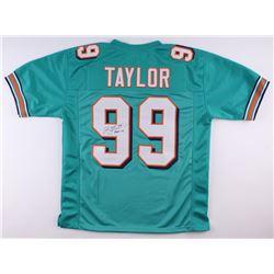 "Jason Taylor Signed Dolphins Jersey Inscribed ""HOF 17"" (JSA COA)"
