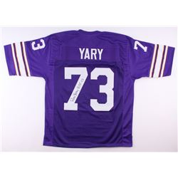 "Ron Yary Signed Vikings Jersey Inscribed ""HOF '01"" (JSA COA)"