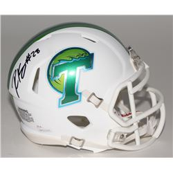 Robert Kelley Signed Tulane Green Wave Mini Speed Helmet (JSA COA)