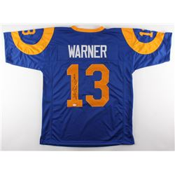 "Kurt Warner Signed Rams Jersey Inscribed ""HOF 17"" (JSA COA)"