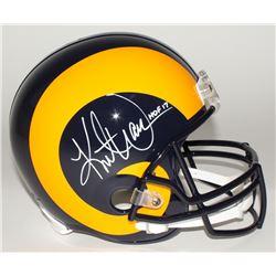 "Kurt Warner Signed Rams Full-Size Throwback Helmet Inscribed ""HOF 17"" (JSA COA)"