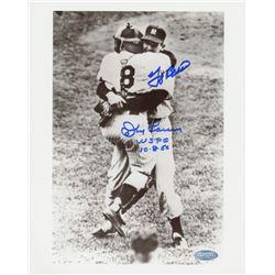 "Don Larsen  Yogi Berra Signed Yankees 8""x 10"" Photo Inscribed ""WSPG 10.8.56"" (Steiner Hologram)"