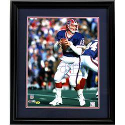 Jim Kelly Signed Bills 23x27 Custom Framed Photo Display (Radtke COA)