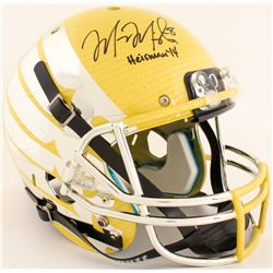 """Marcus Mariota Signed Oregon Ducks Full-Size Helmet Inscribed """"Heisman '14"""" (Mariota Hologram)"""