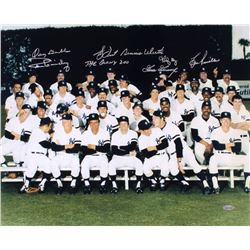 """New York Yankees """"Bronx Zoo"""" 16x20 Photo Signed by (7) with Goose Gossage, Lou Piniella, Ron Guidry,"""