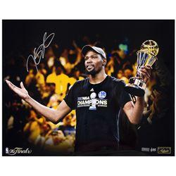 "Kevin Durant Signed Warriors ""Finals MVP"" LE 16x20 Photo (Panini COA)"