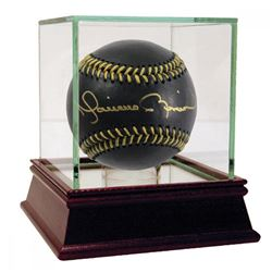 Mariano Rivera Signed OML Black Leather Baseball with High Quality Display Case (Steiner COA)