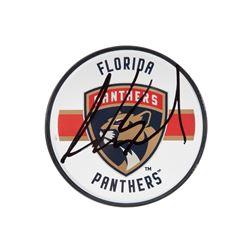 Aaron Ekblad Signed Panthers Acrylic Hockey Puck (UDA COA)